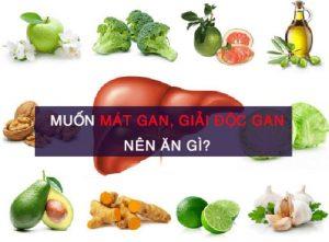 Những thực phẩm mát gan giải độc trị mụn