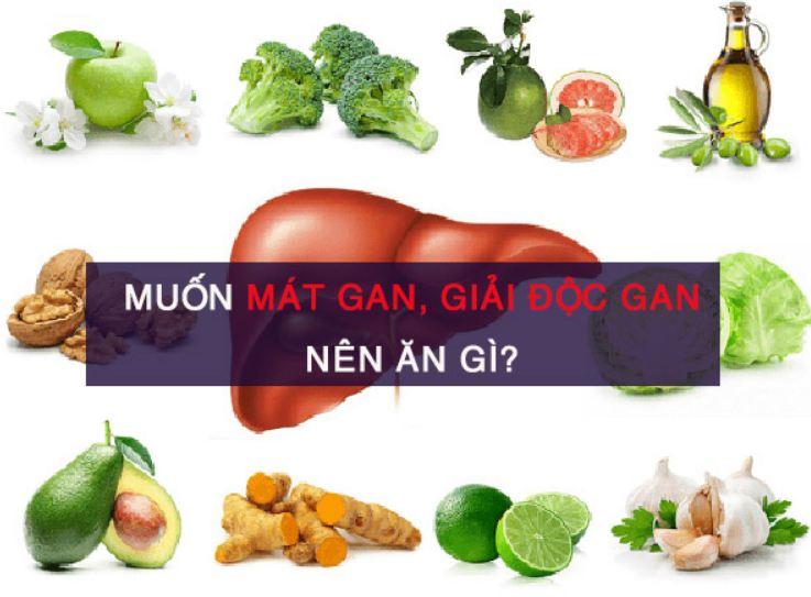 Những thực phẩm mát gan, giải độc, trị mụn